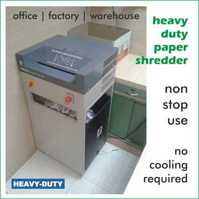 Large paper strip shredder maintenance